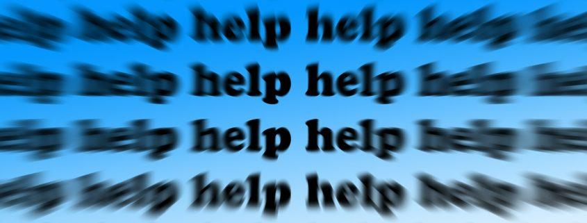 Bede om hjælp
